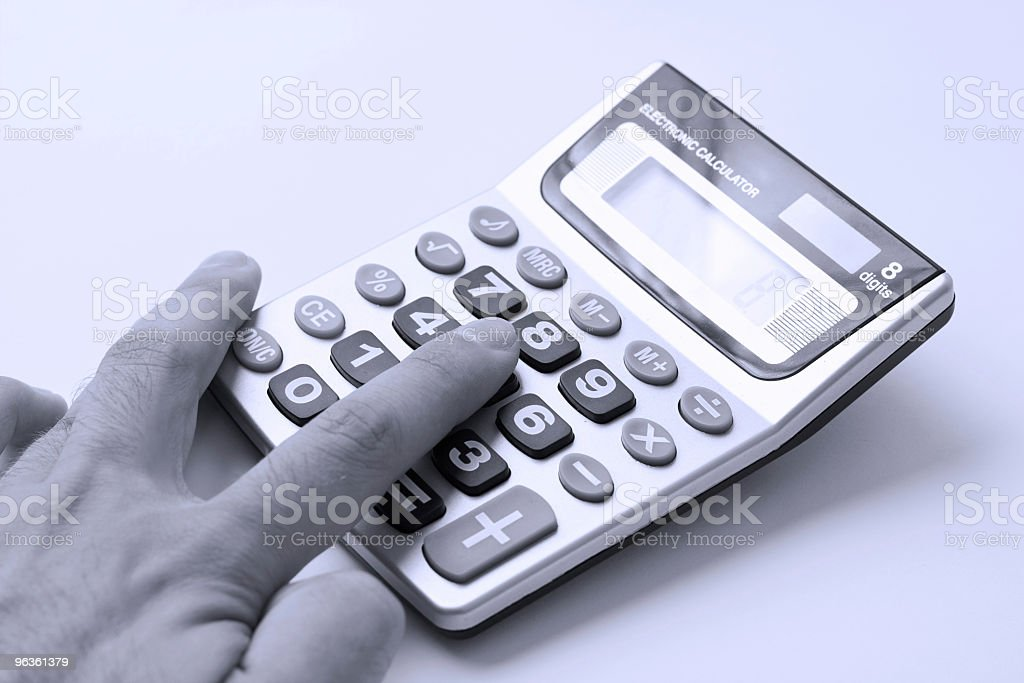 Calculating royalty-free stock photo
