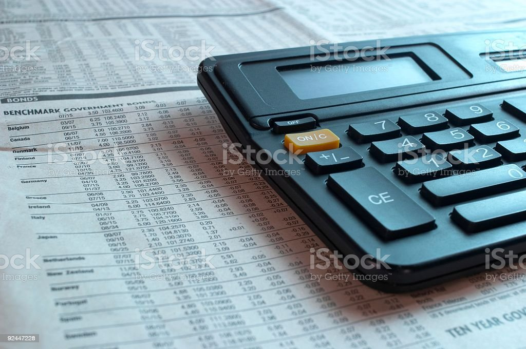 Calculating profit 02 royalty-free stock photo