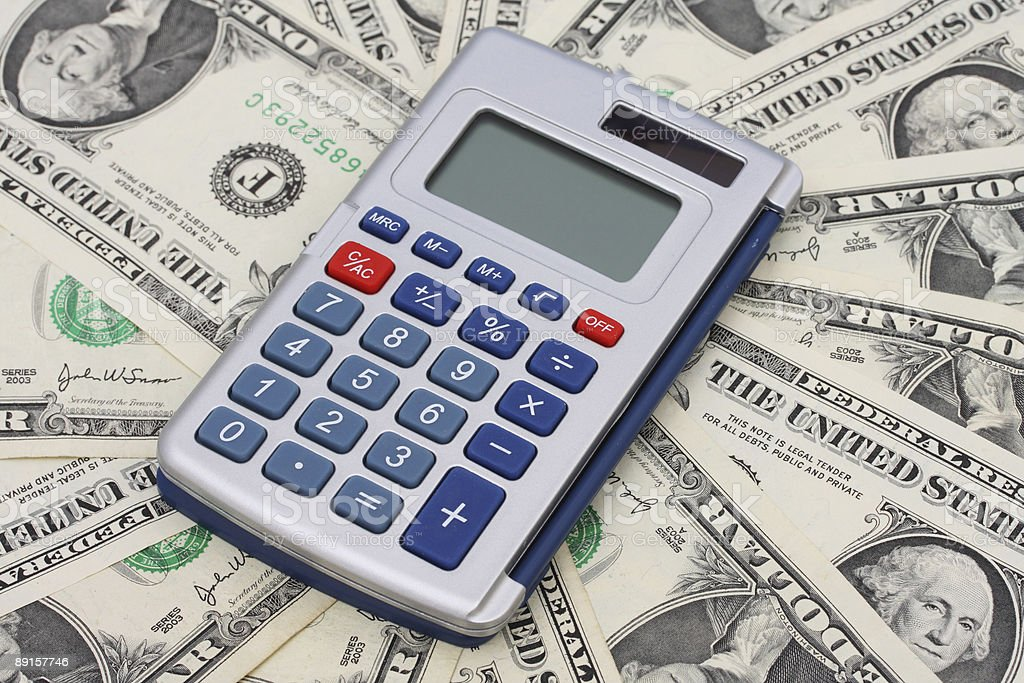 Calculating your Finances stock photo