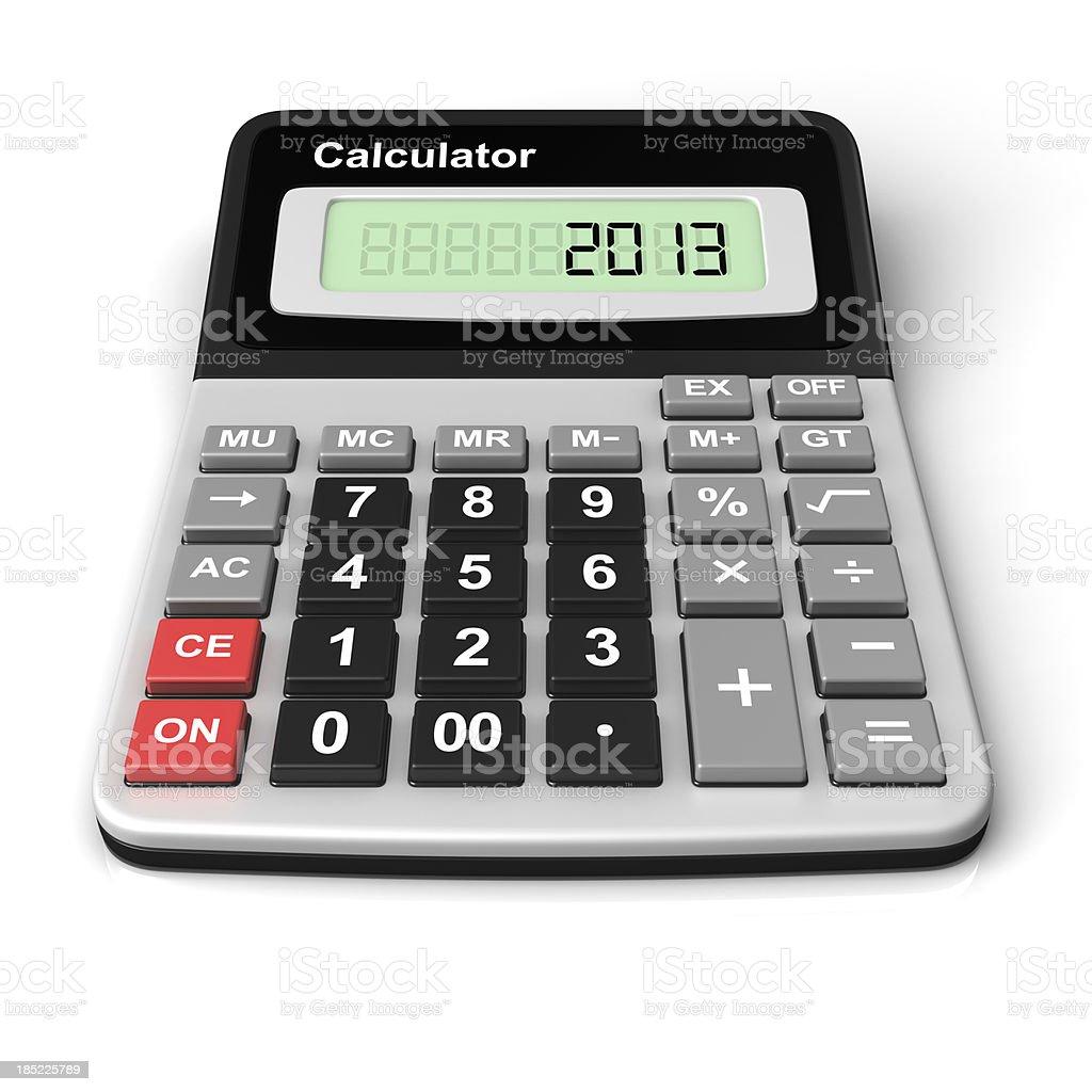 Calculator 2013 royalty-free stock photo