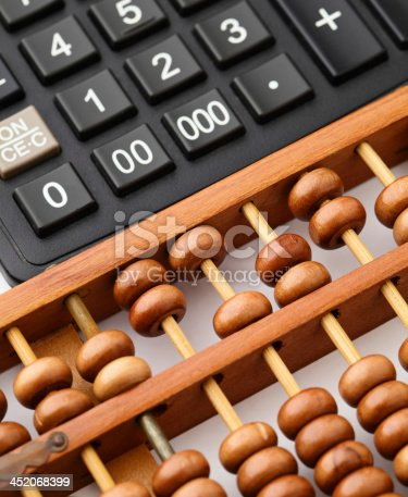 istock Calculator and abacus 452068399
