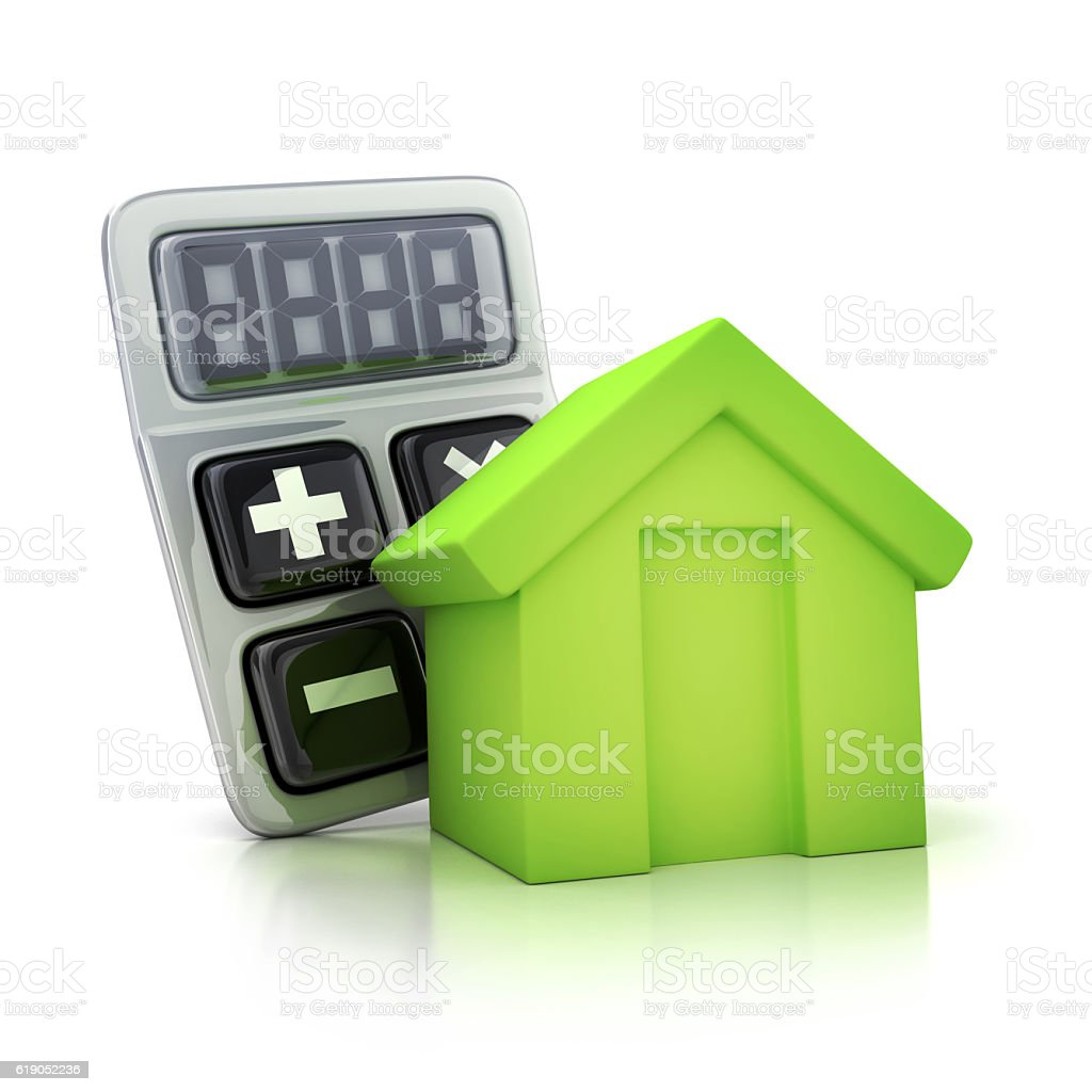 Calculator and abstract home stock photo