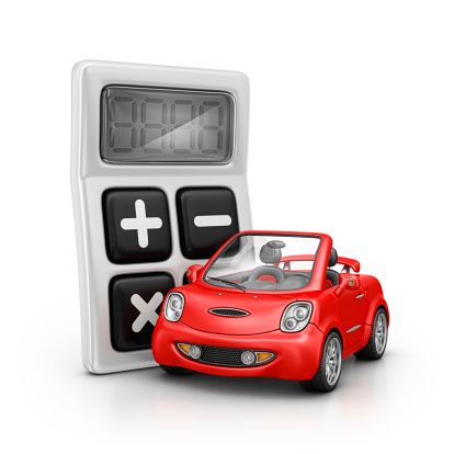 Calculator And Car Stock Photo - Download Image Now