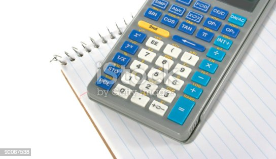 istock Calculator and Notepad 92067538