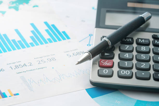 Calculator and pencil Calculator, Currency, Financial Figures, Number, Document calculator stock pictures, royalty-free photos & images