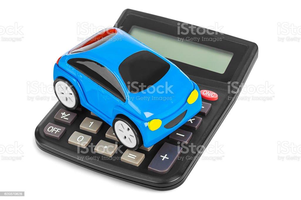 Kalkulator i Samochód zbawka zbiór zdjęć royalty-free