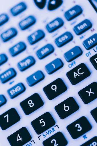 Calculator Background Stock Photo - Download Image Now ...