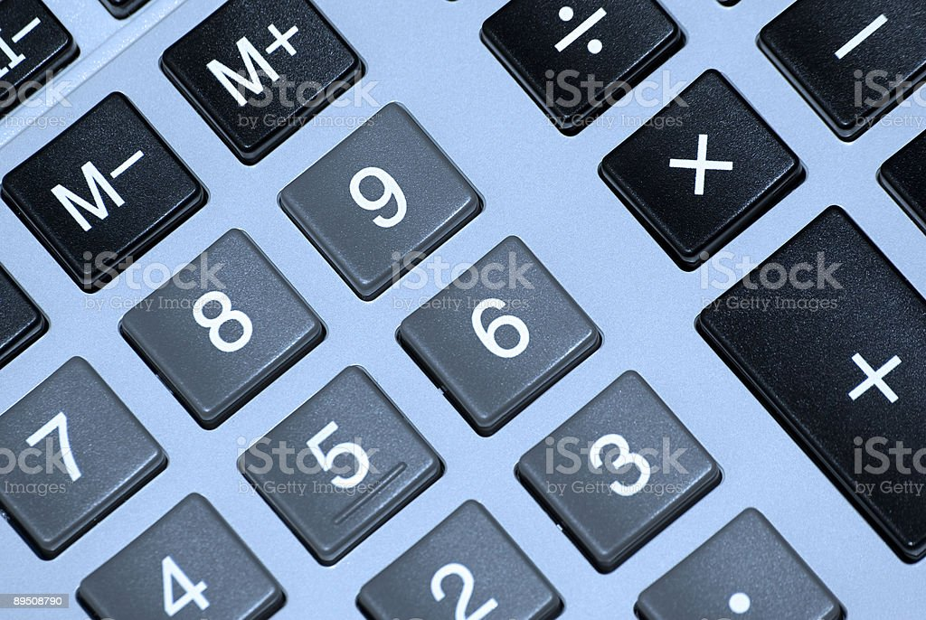 Calculator buttons. 免版稅 stock photo