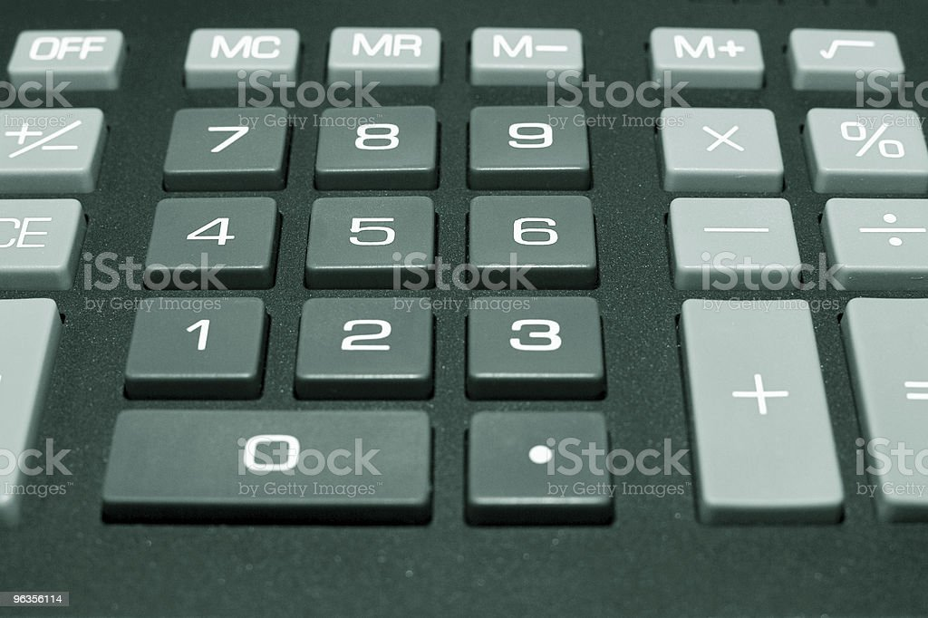 Calculator buttons royalty-free stock photo