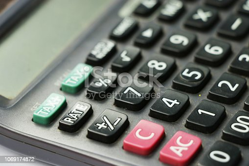 istock calculator buttons with white background 1069174872
