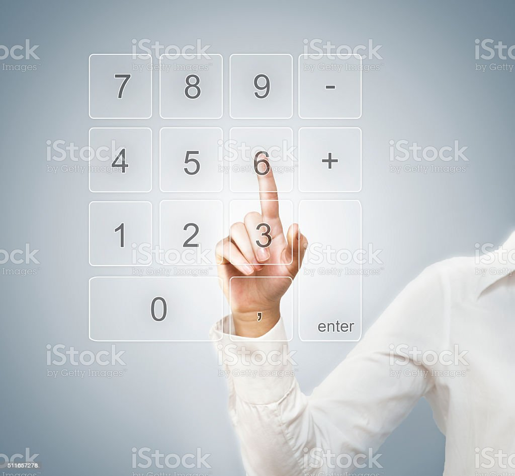 Calculator/ Cell phone/ Security/ Touch screen concept (Click for more) stock photo