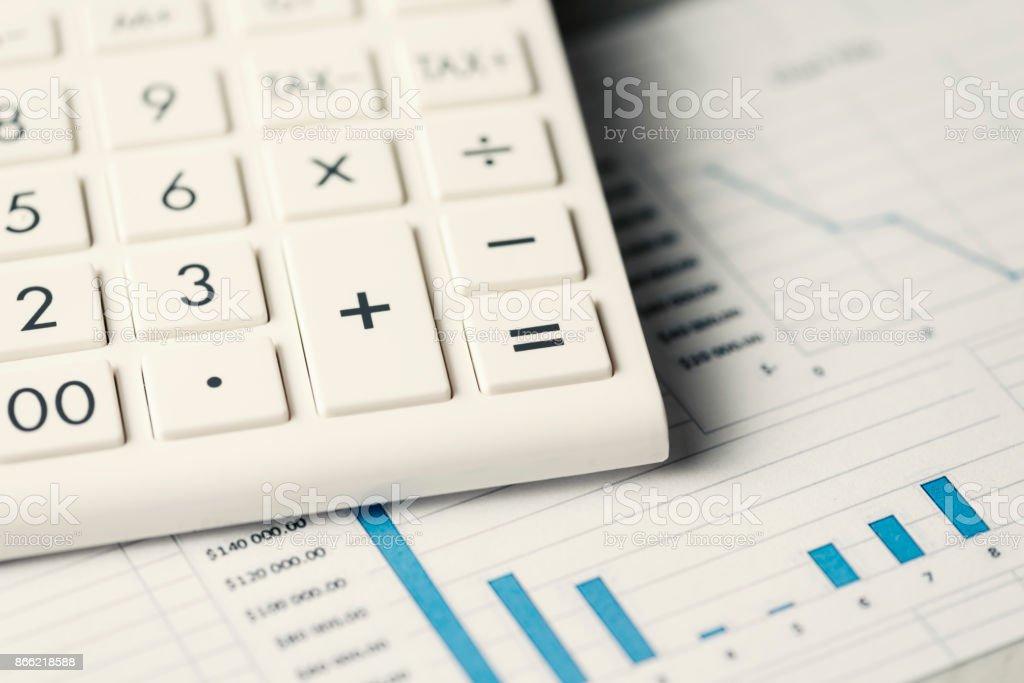 Calculator Conceptual Diagram stock photo
