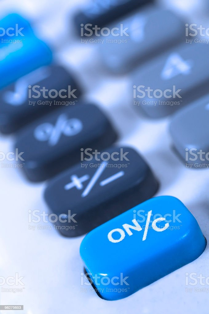 calculator fragment royalty-free stock photo