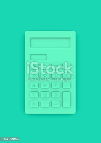 istock Calculator in minimalist style as concept for business accounting and education 994185856