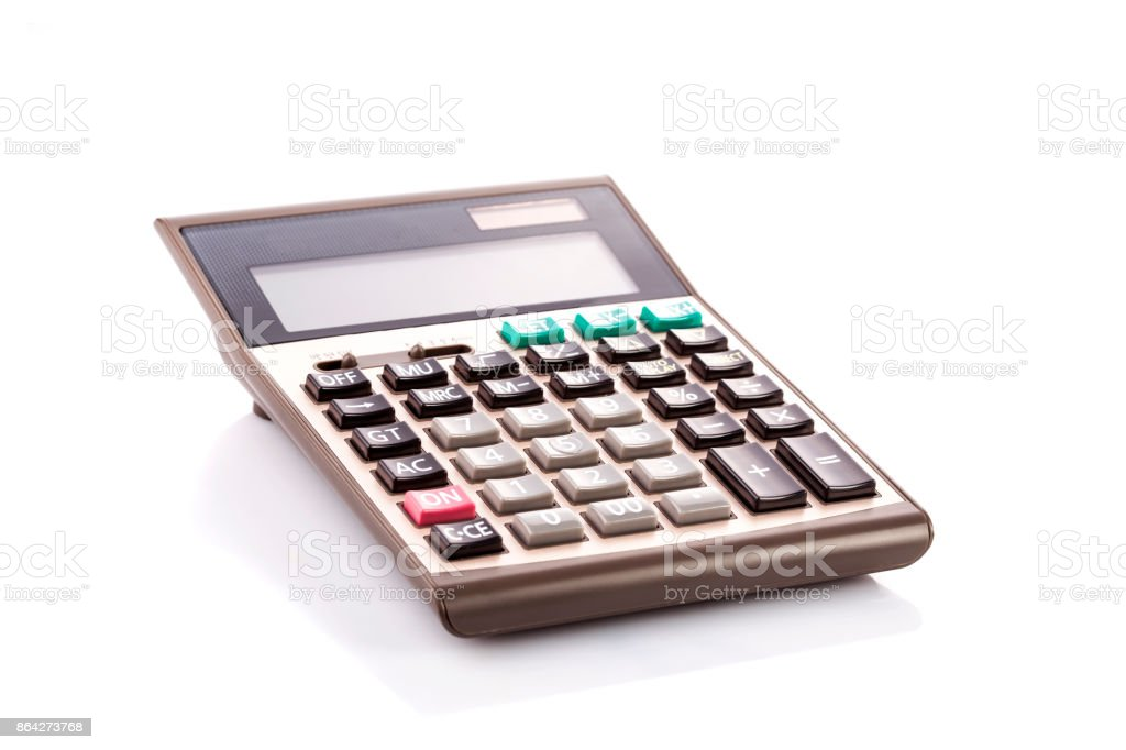 Calculator isolated on white background royalty-free stock photo