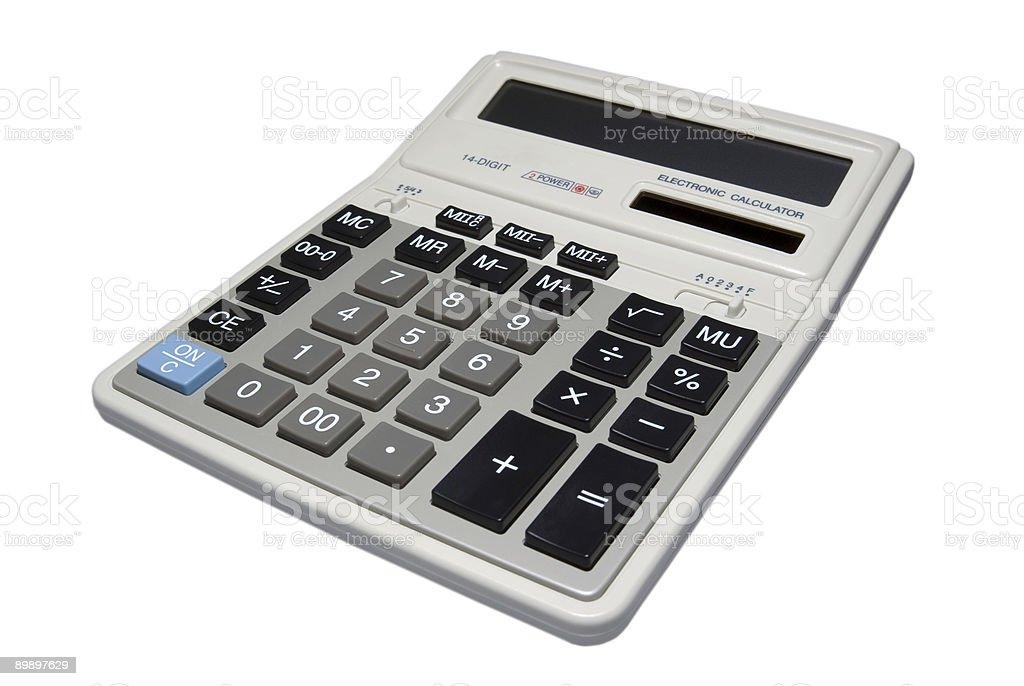 Калькулятор, изолированные на белом фоне. Стоковые фото Стоковая фотография
