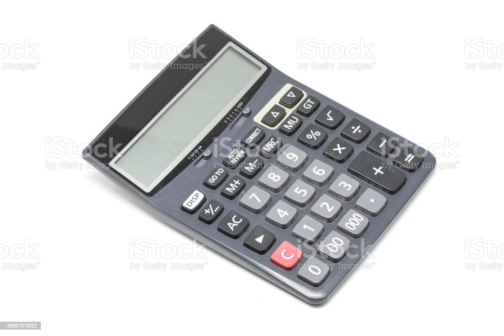 calculator isolated on white background stock photo