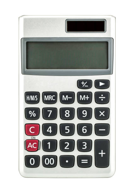 Calculator isolated on white background - foto stock