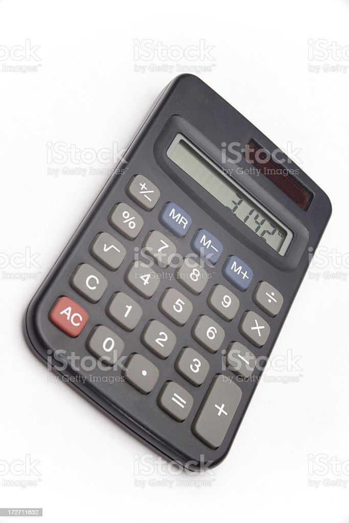 Calculator isolated on white royalty-free stock photo