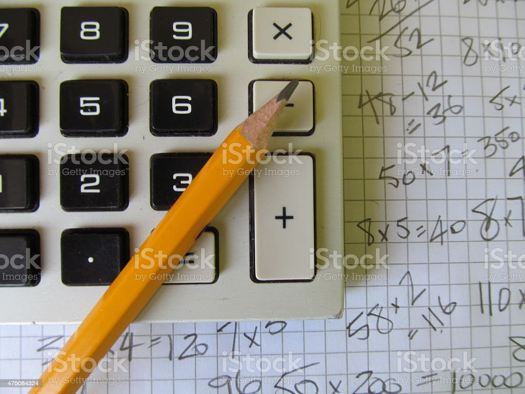 calculator IV stock photo