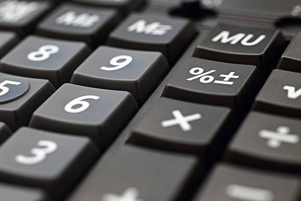 Calculator Keypad stock photo