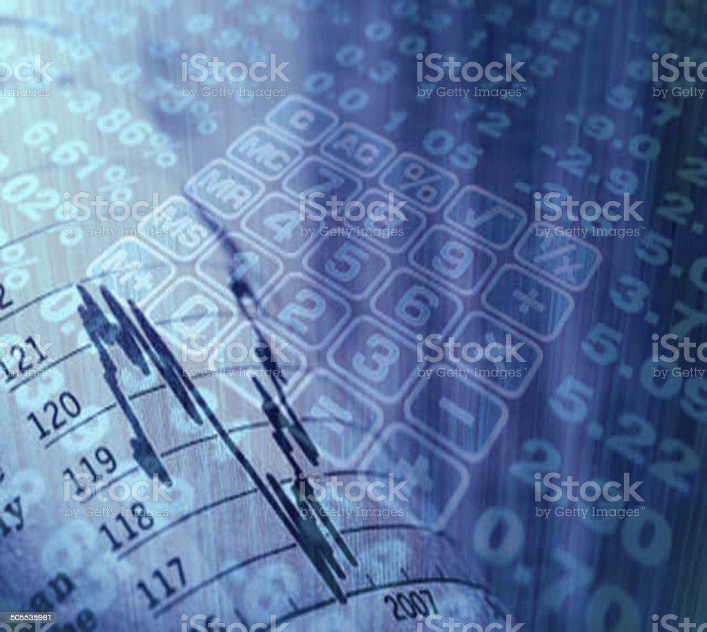 Calculator numbers stock photo
