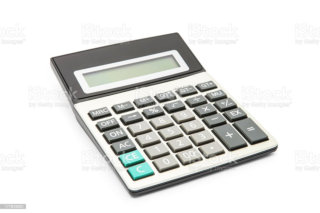 calculator on a white background royalty-free stock photo