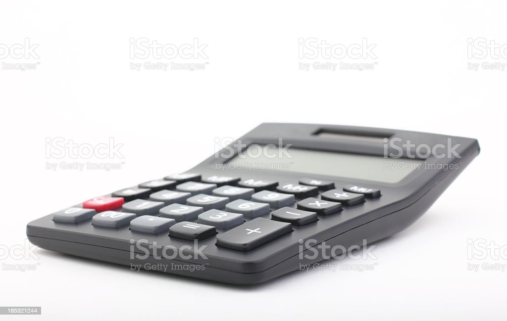 Calculator on a white background stock photo