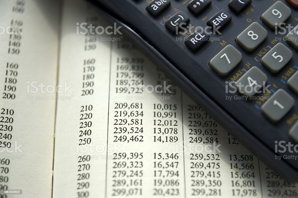 Calculator on technical table royalty-free stock photo