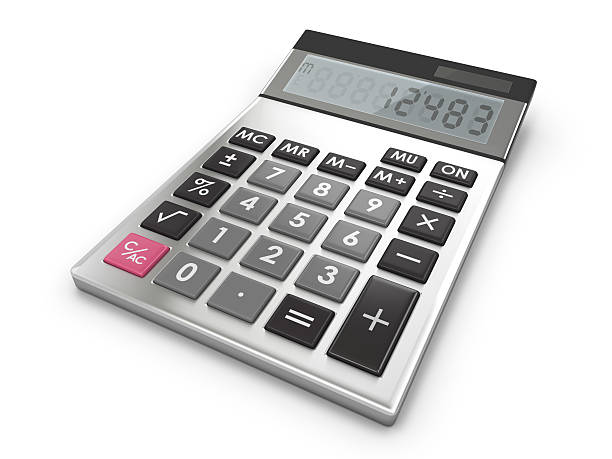 Calculator on White stock photo