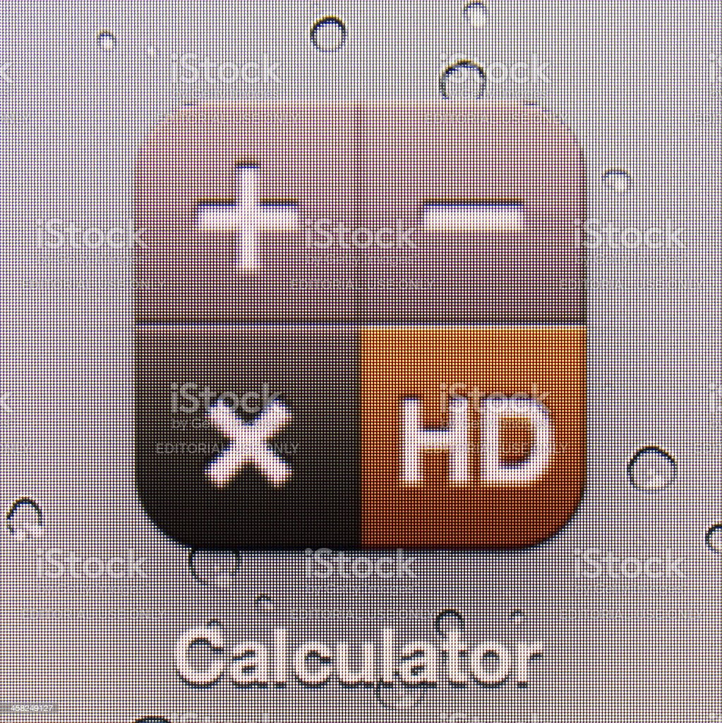 Calculator royalty-free stock photo