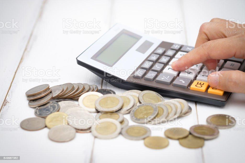 Calcolatrice  - Foto stock royalty-free di Affari