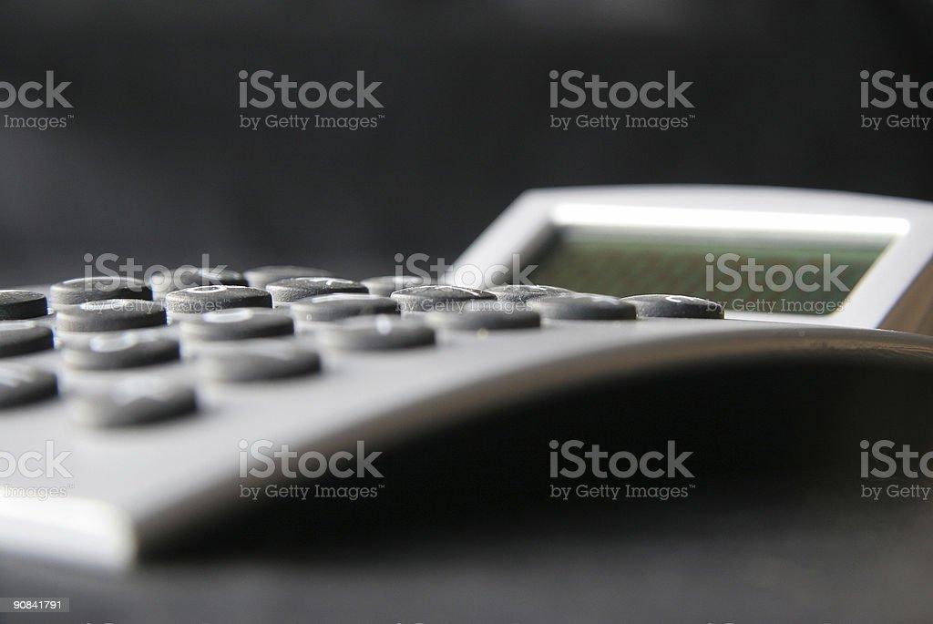 Calculator profile royalty-free stock photo