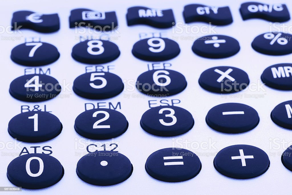 calculator push buttons royalty-free stock photo