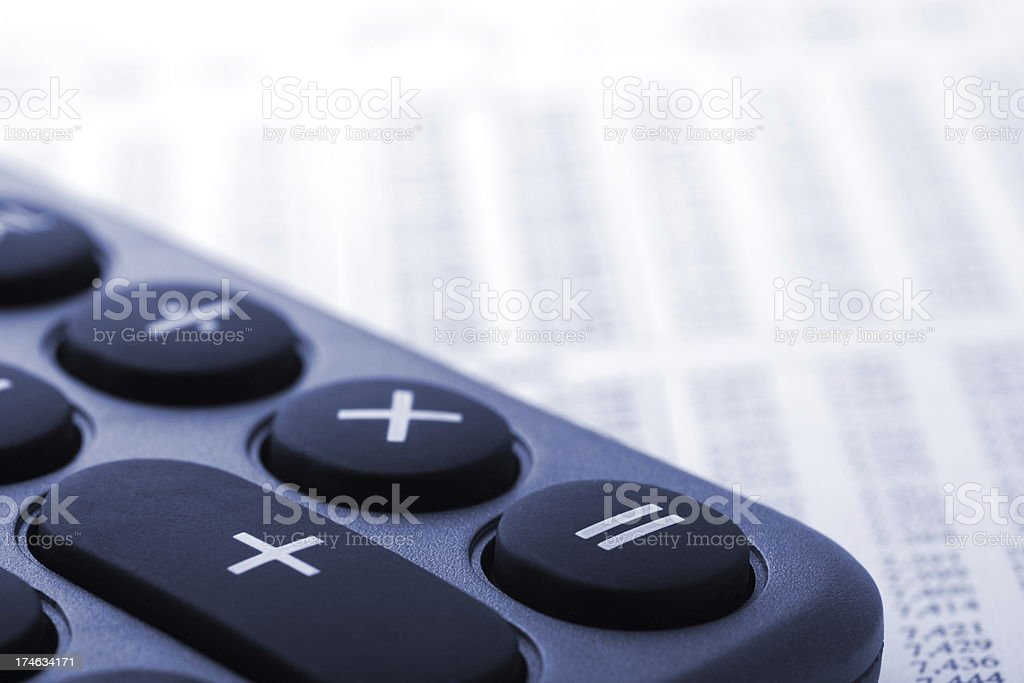 Calculator with Numbers royalty-free stock photo