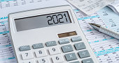 istock A calculator with the 2021 on the display 1270096200
