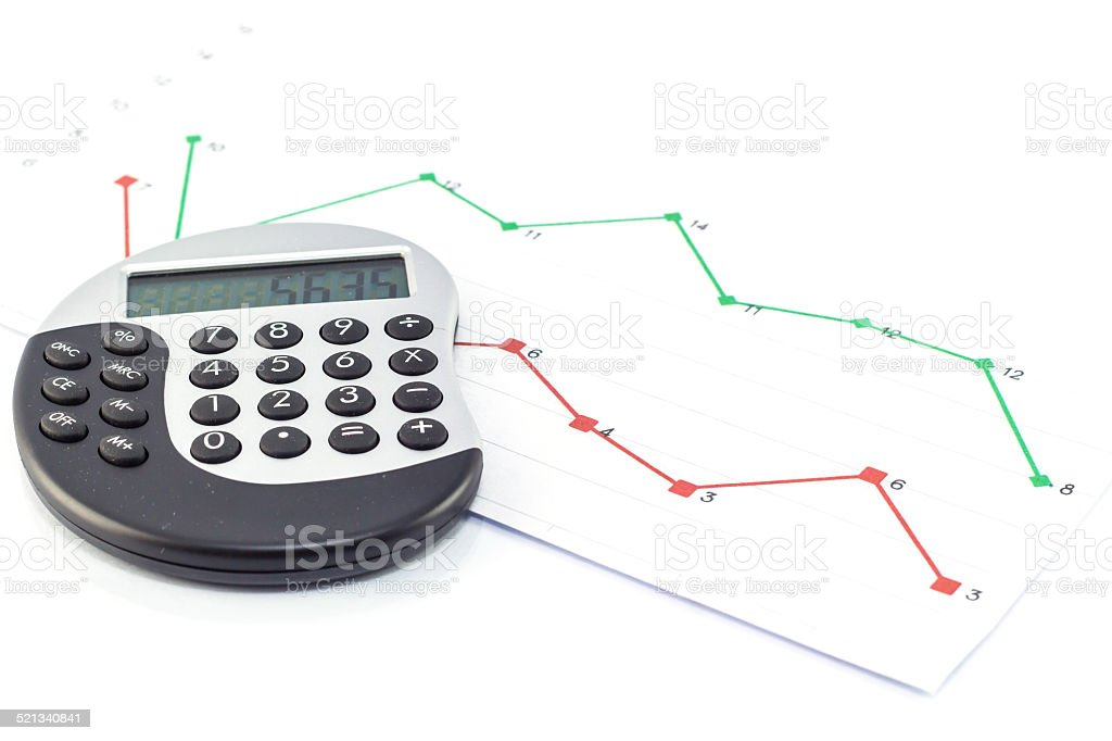 calcutor stock photo