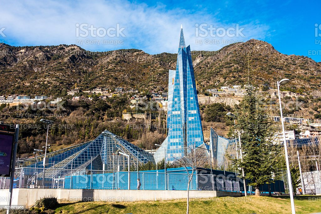 Caldea Balneary Andorra La Vella Escaldes Engordany Stock Photo