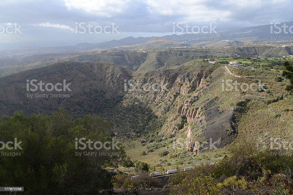 Caldera de Bandama, Gran Canaria stock photo