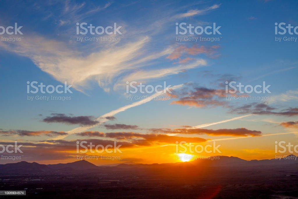Caldera De Los Arrabales Sunset Fuerteventura Canary Islands