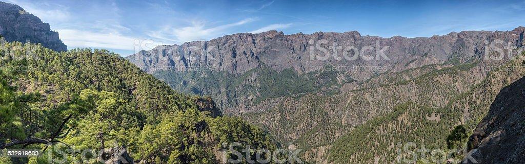Caldera de Taburiente, La Palma, Canary Islands (Panoramic) stock photo