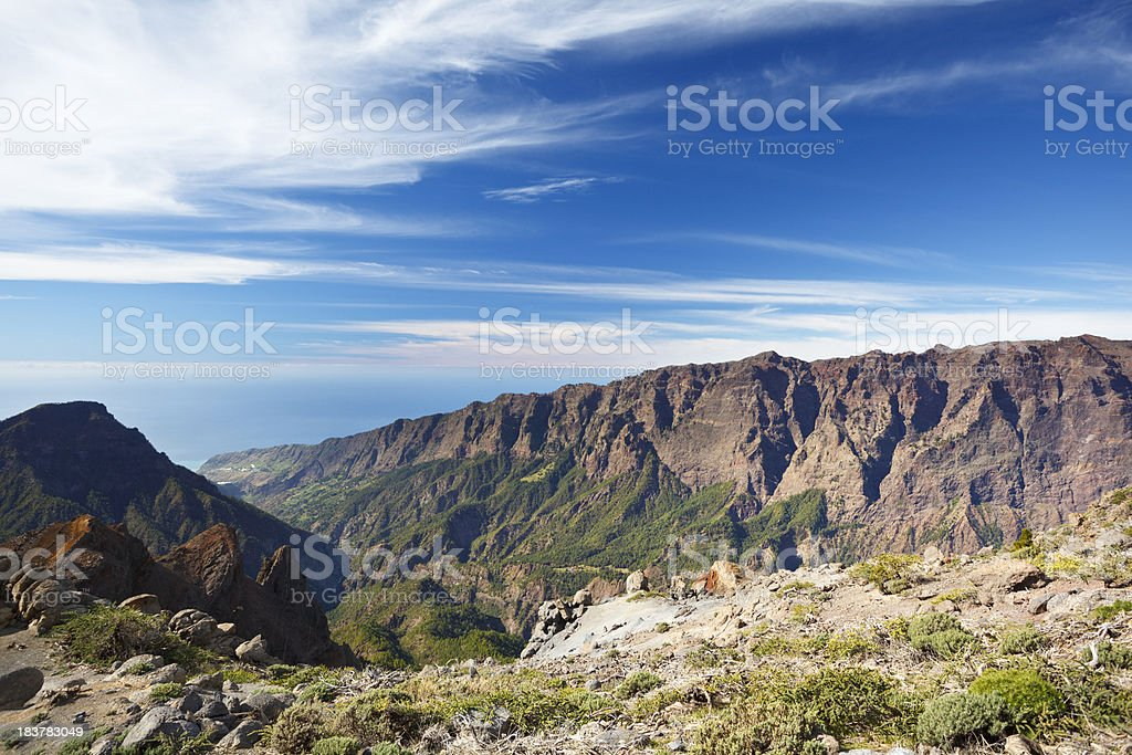 Caldera De Taburiente, La Palma stock photo