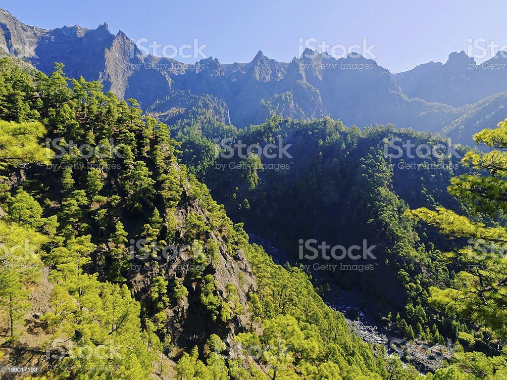 Caldera de Taburiente National Park on La Palma stock photo