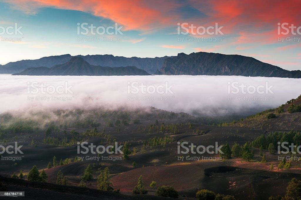 Caldera de Taburiente National Park (La Palma island. Canaries) stock photo
