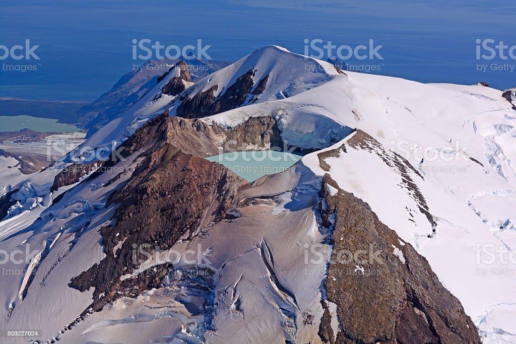 Caldera Lake in an Active Volcano stock photo