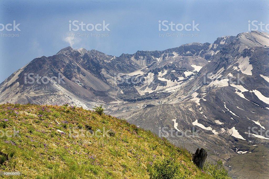Caldera Lava Dome Mount Saint Helens Volcano National Park Washi stock photo