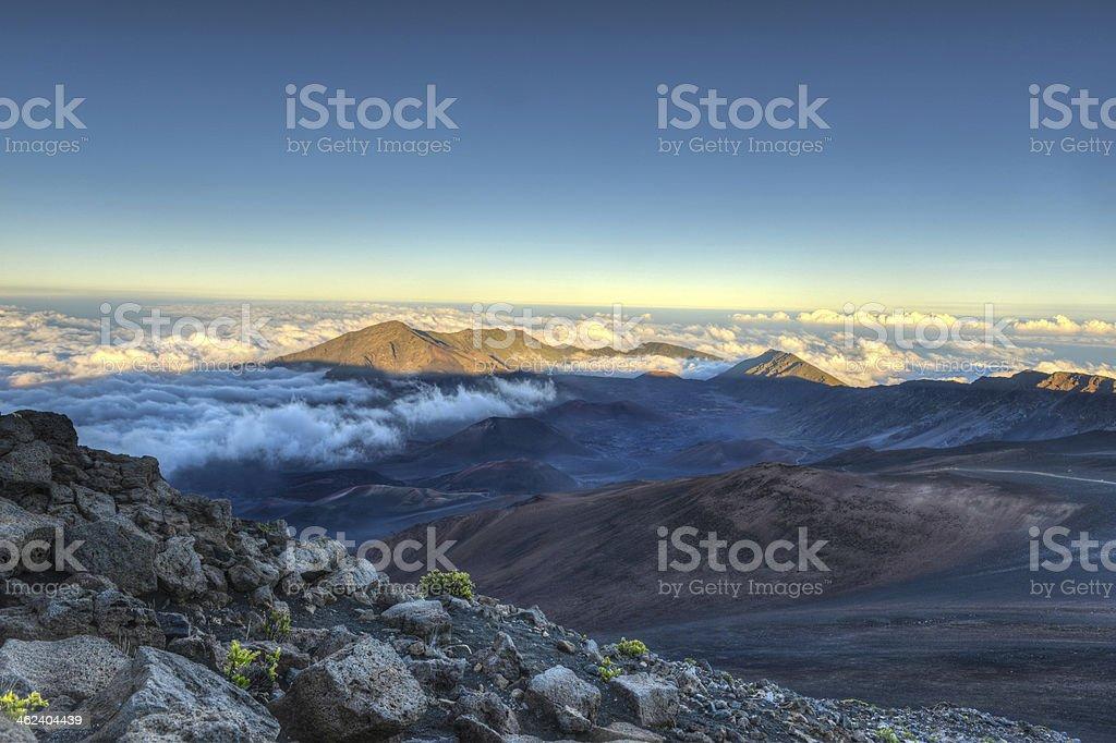 Caldera of the Haleakala volcano (Maui, Hawaii) stock photo