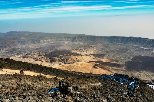 Caldera Of Volcano El Teide On Tenerife Island Spain Stock Photo