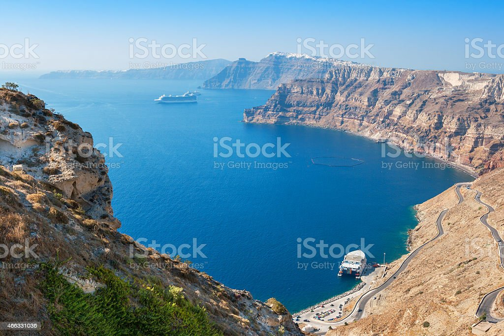 Caldera. Santorini island. Greece stock photo