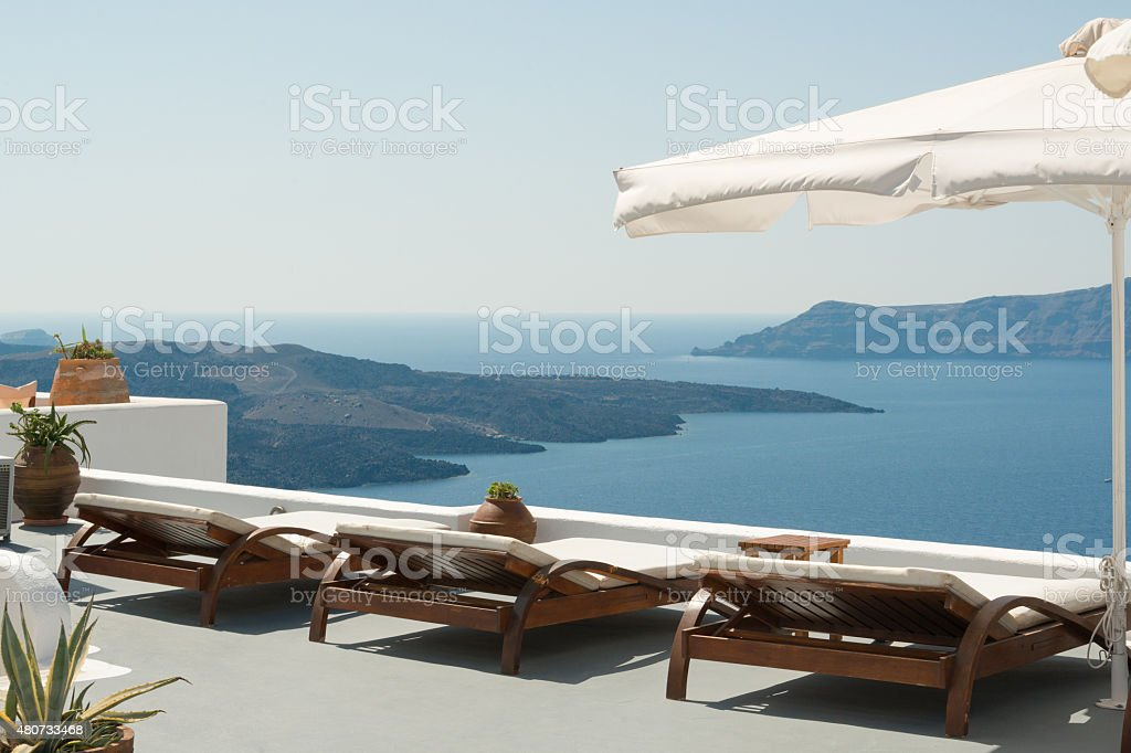 Caldera view stock photo